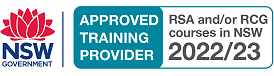 NSW Government Approved Training Provider RSA